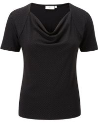 Cc Black Heat Seal Jersey Top - Lyst