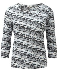Cc Zig Zag Textured Slash Neck Jersey - Lyst