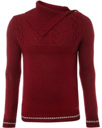 Diesel Cable Knit Roll Neck Jumper - Lyst
