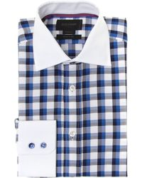 Duchamp Large Gingham Check Shirt - Lyst