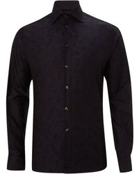 Duchamp Long Sleeve Bouquet Jacquard Shirt - Lyst