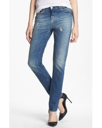 Each x Other Leather Trim Slouchy Jeans - Lyst