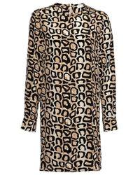 Equipment Aubrey Silk Animal-Print Dress - Lyst