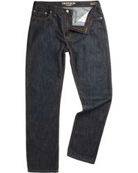 Howick Bridgeport Five Pocket Dark Washed Jeans - Lyst