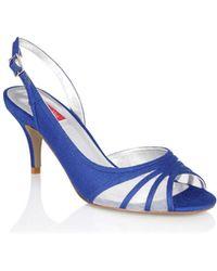 Jacques Vert - Delphinium Mesh Peep Toe Shoes - Lyst
