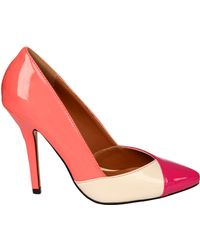 Jane Norman Panel Court Shoe - Lyst