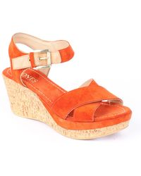 Jones Bootmaker - Kennedy Medium Wedge Heeled Sandals - Lyst