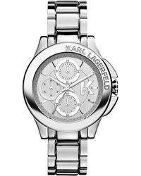 Karl Lagerfeld Sport Stainless Steel Ladies Watch - Lyst