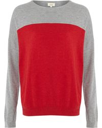 Linea Weekend Ladies Colourblock Oversize Jumper - Lyst