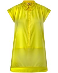 Linea Weekend Ladies Short Sleeve Mixed Fabric Shirt - Lyst