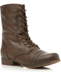 Madden Girl - Gamer Round Toe Military Boots - Lyst