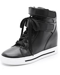 Marc By Marc Jacobs Strappy Hi Top Wedge Sneakers - Lyst