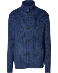 Marc By Marc Jacobs Cotton Indiana Cardigan In Indigo - Lyst