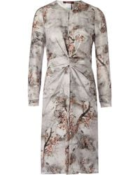 Max Mara Studio Fungo Bow Print Dress - Lyst