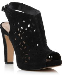 Pied A Terre Letha Laser Cut Heeled Sandals - Lyst