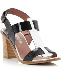 Pied A Terre Jaren Tbar Block Heel Sandals - Lyst