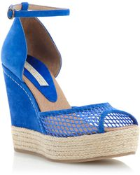 Pied A Terre Lotter Mesh Wedge Sandals - Lyst