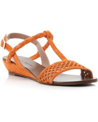Pied A Terre Liddy Laser Cut Sandals - Lyst