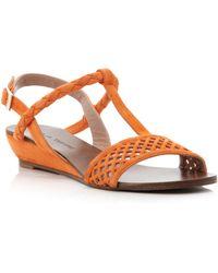 Pied a Terre | Liddy Laser Cut Sandals | Lyst