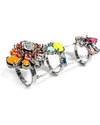 Shourouk - Mila Triple Chain Link Ring - Lyst