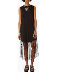 Topshop Fringe Dress - Lyst