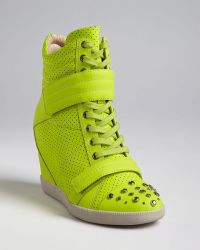 Boutique 9 High Top Wedge Trainers Nevan