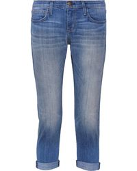 Current/Elliott The Cropped Roller Mid-Rise Jeans - Lyst