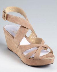 Delman - Sandals - Clara Platform Wedge - Lyst