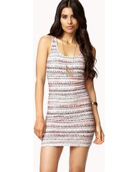 Forever 21 Ombré Tribal Print Dress - Lyst