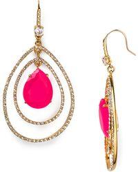 Juicy Couture | Social Lites Pave Teardrop Orbital Earrings | Lyst