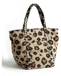 Kelsi Dagger Brooklyn - Ryan Leopard Print Leather Shopper Tote Bag - Lyst