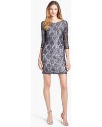 Pisarro Nights Embellished Lace Sheath Dress - Lyst