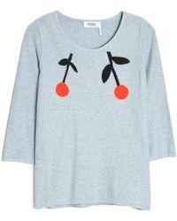 Sonia by Sonia Rykiel Double Cherry Knit Top - Lyst