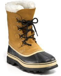 Sorel Caribou Boots beige - Lyst