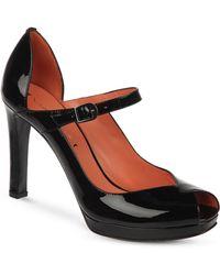 Via Spiga - Open Toe Mary Jane Platform Court Shoes Paula - Lyst