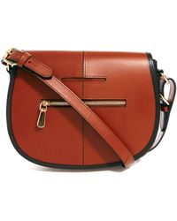 Asos Leather Saddle Bag - Lyst