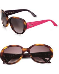 Dior Lady in Oversized Round Plastic Sunglasses - Lyst