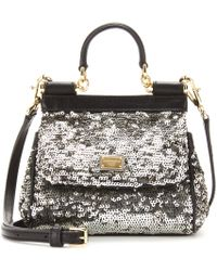 Dolce & Gabbana Sequinembellished Shoulder Bag - Lyst