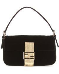 Fendi Baguette Velvet Shoulder Bag - Lyst