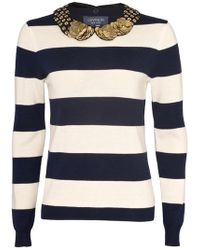 Gryphon - Rugby Stripe Crew Neck Jumper - Lyst