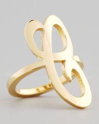 Jennifer Zeuner - Gold Single Initial Ring - Lyst
