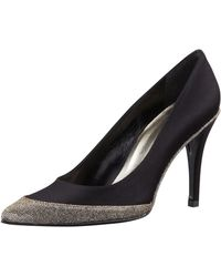 Stuart Weitzman Fairlady Satin Sparkletoe Evening Pump - Lyst
