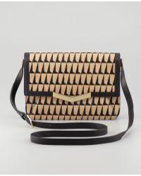 Time's Arrow - Affine Small Calfhair Shoulder Bag Blacktan - Lyst