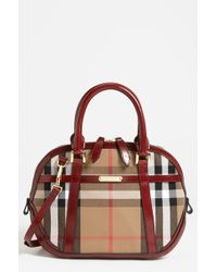 Burberry House Check Satchel - Lyst
