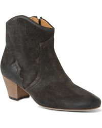 Isabel Marant Dicker Suede Ankle Boots - Lyst