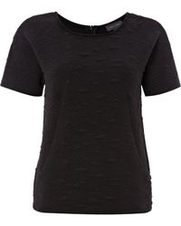 Pied A Terre Textured Jersey Couture Tee - Lyst