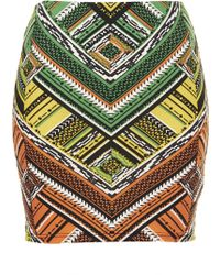 Topshop New Aztec Mini Skirt - Lyst
