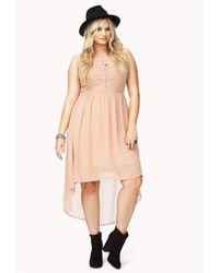 Forever 21 Summer Nights High Low Dress - Lyst