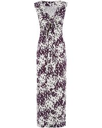 Diane von Furstenberg New Julian Ikat-Print Maxi Wrap Dress - Lyst