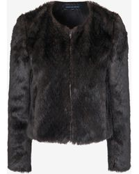 French Connection Saluete Fur Jacket - Lyst